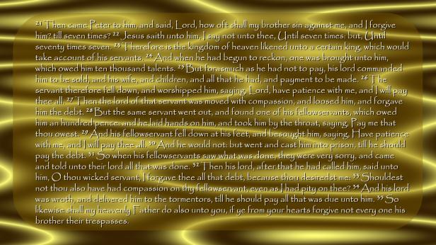 Gold Swirls - Matt 18