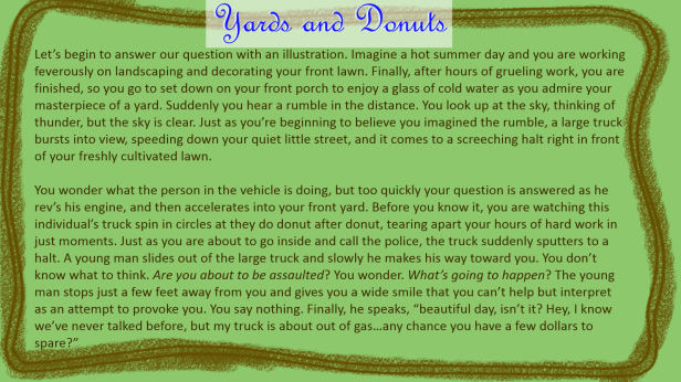 Yard and Donuts Story